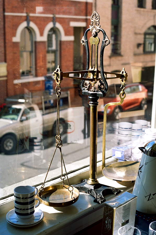 Set of old-fashioned scales